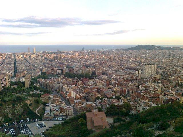 Vista de Barcelona des del Turó de la Rovira